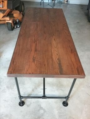 Custom Made Rustic Industrial Desk