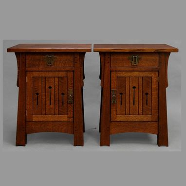 Custom Made Mackintosh End Tables/Nightstands
