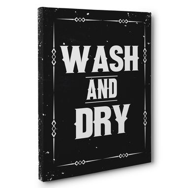Custom Made Wash And Dry Laundry Canvas Wall Art