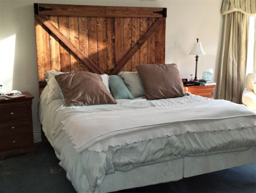 Hand Crafted Barnwood Headboard By Custom Made Furniture