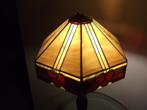 Custom Made Stained Glass Heart Lampshade