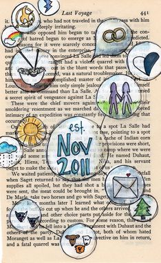 Custom Made Paper Anniversary --- First Anniversary Tell A Story --- Custom Vintage Paper