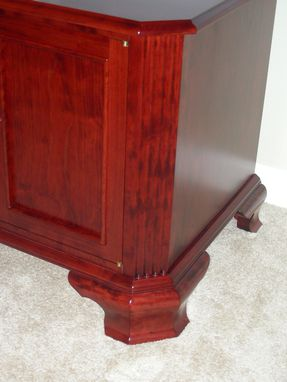 Custom Made Majestic Media Cabinet - Cherry