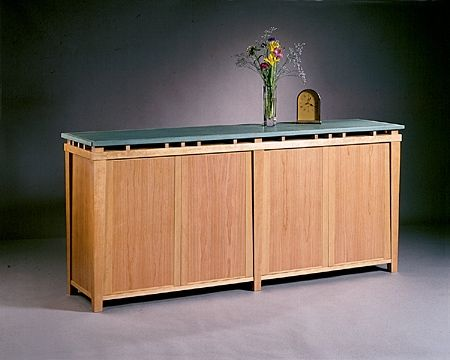 Custom Made Cessina Desk & Credenza
