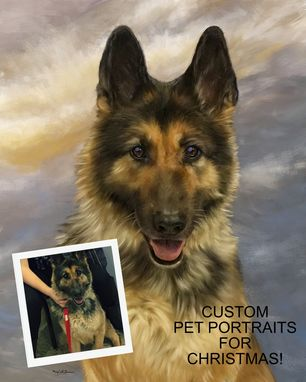 Custom Made Stunningly Lifelike Custom Pet, Dog, Cat Portrait Painting On Canvas Or Archival Paper