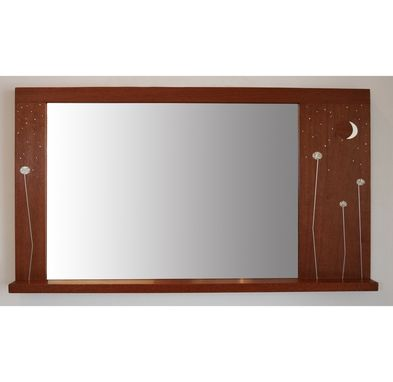 Custom Made Mirror-Moon And Stars