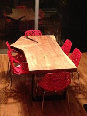 Custom Made Live Edge Maple Dining Table