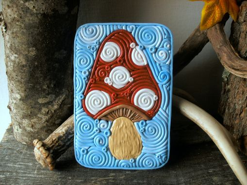 Custom Made Mushroom Decorative Storage Tin, Cigarette Case Or Wallet