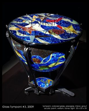 Custom Made Lighted Glass Sculptural End Tables