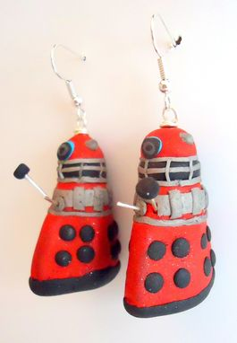 "Custom Made ""Doctor Who"" Dalek Earrings For Eduardo"