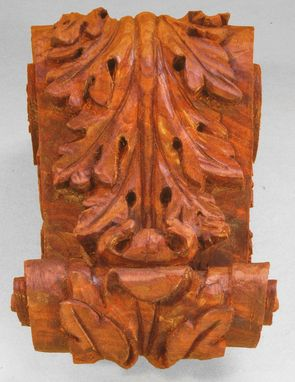 Custom Made Hand Carved Sapele Corbels