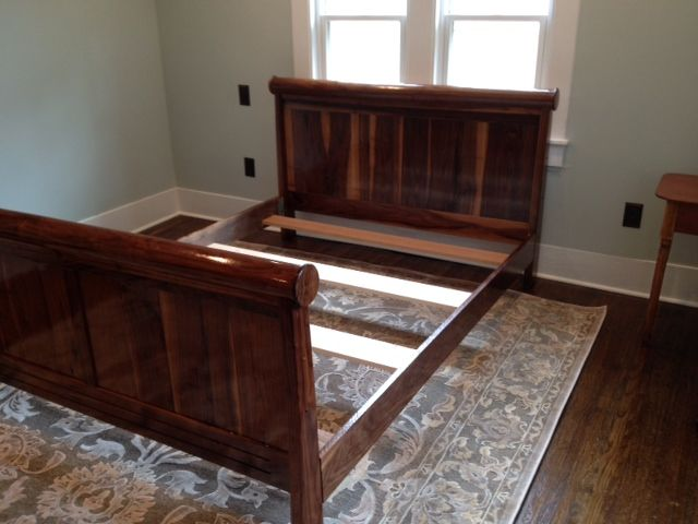 Custom Made Black Walnut Bed