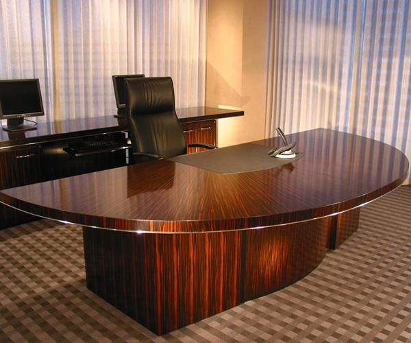 Hand Made Shiny Office Desk By Westchester Wood