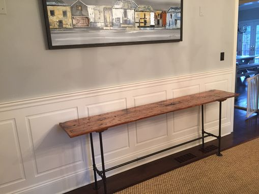 Custom Made Reclaimed Barnwood Console Table