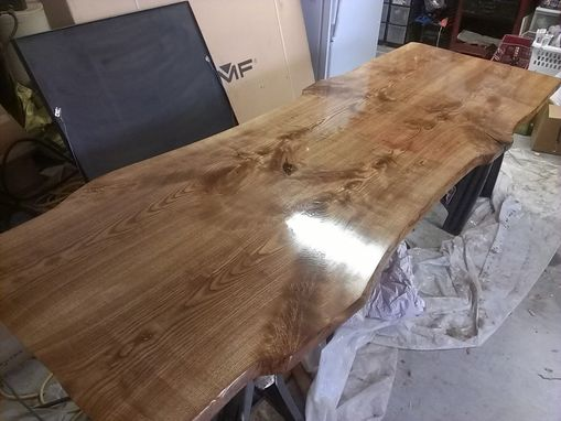 Custom Ash Slab Modern Dining Table By Refined Elements