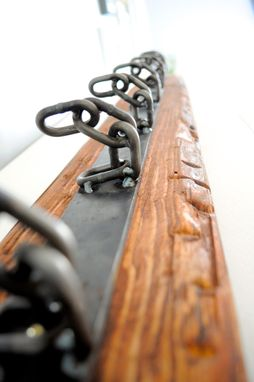 Custom Made Rustic Mounted Coat Hanger