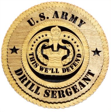 Custom Made U.S. Army Drill Sergeant Wall Tribute, U.S. Army Drill Sergeant Hand Made Gift