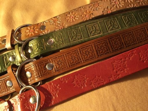 "Custom Made 1"" Leather Dog Collar"