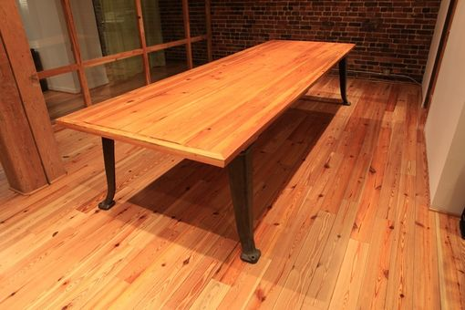 Custom Made Heart Pine Conference Table