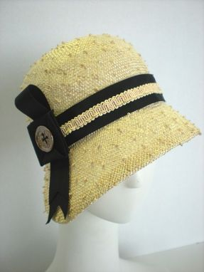 Custom Made Knotted Natural Straw Cloche