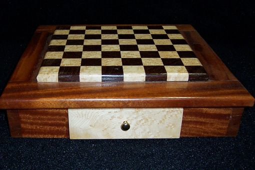 Custom Made Exotic Wood Chest Board