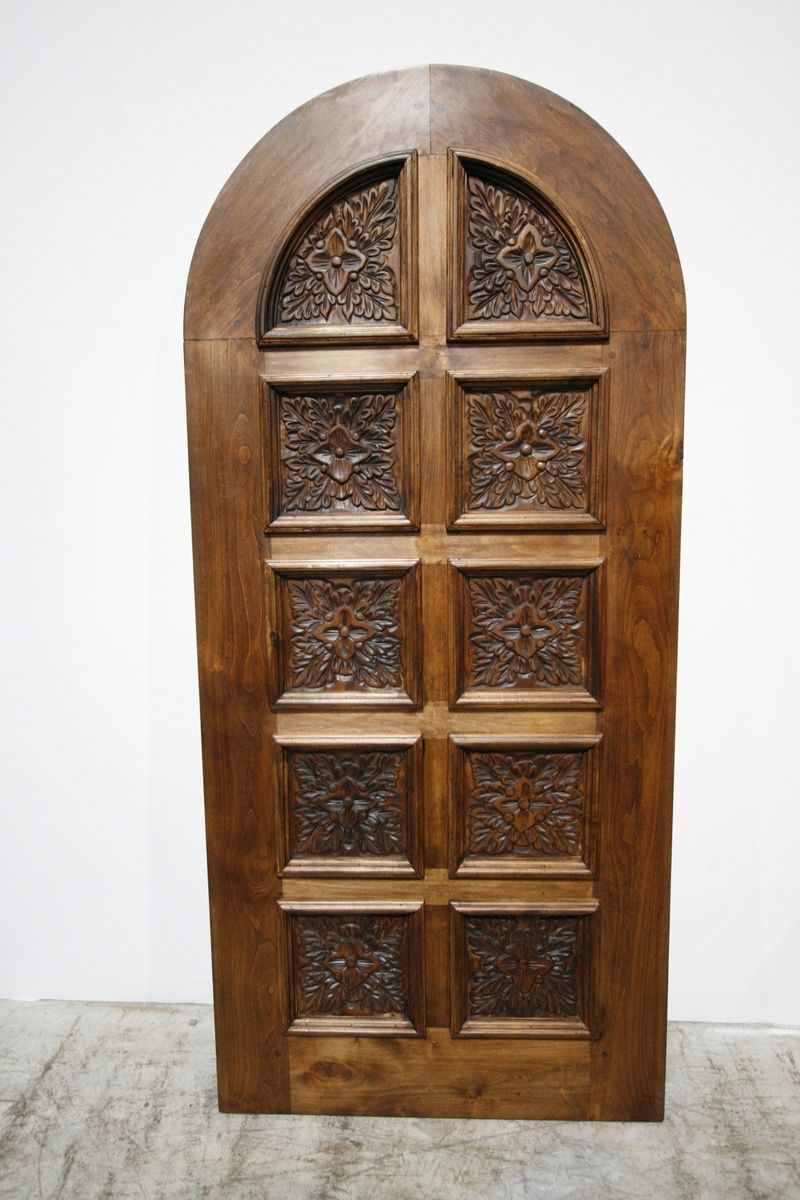 Hand Made Mesquite Single Arched Door By Demejico Inc
