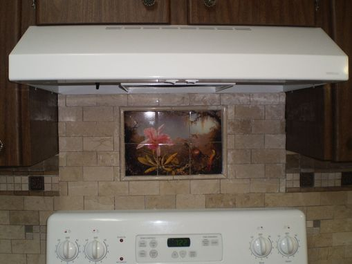 Custom Made Ceramic Or Tumbled Marble Kitchen Mural