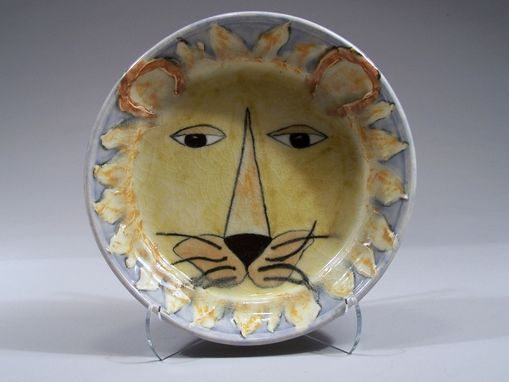 Custom Made Lion King Childs Dish - Handpainted Porcelain