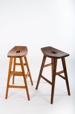 Custom Made Trestle Barstools