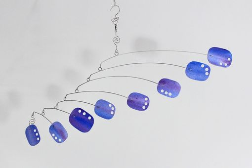 Custom Made Ceiling Hugger Art Mobile - Hanging Kinetic Sculpture For Low Ceilings
