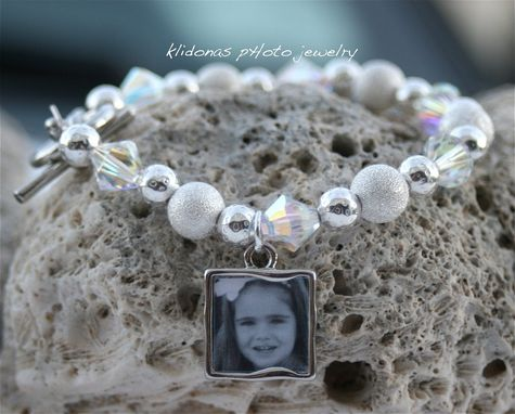 Custom Made Wedding Bracelet, Brides Bracelet, Photo Bracelet, Mother Of The Bride Bracelet