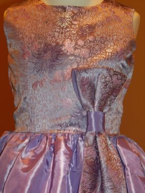 Custom Made Charlene: A Beautiful Taffeta And Brocade Dress With Half Bow.