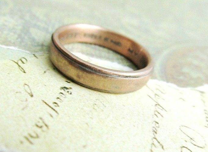 Custom Made Rustic Men S Wedding Band In Rose Gold