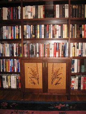 Custom Made Cabinet Within Bookcase