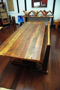 Custom Made Reclaimed Timber-Frame Trestle Dining Table, Farm Table