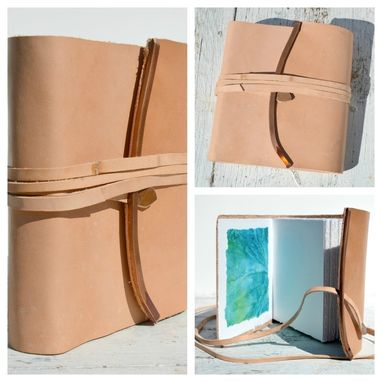 Custom Made Leather Bound Handmade Journal Travel Diary Handmade Paper Art Notebook