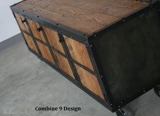 Custom Made Vintage Industrial Media Console/Credenza - Rustic Reclaimed Wood, Urban, Buffet