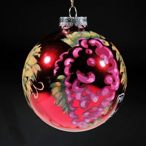 Hand Made Hand Painted Solid Wood Christmas Finial