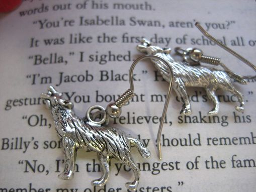 Custom Made Werewolf Earrings Inspired By Twilight And Jacob Black, Ready To Ship
