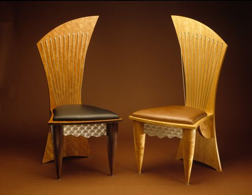 Custom Made Asymmetrical Dining Chairs