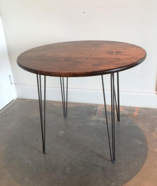 Custom Made Round Industrial Modern Kitchen Table
