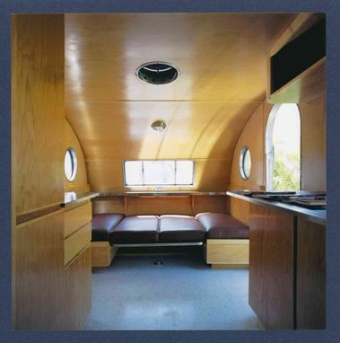 Custom Teardrop Trailer Interior Wood Trim And Cabinetry