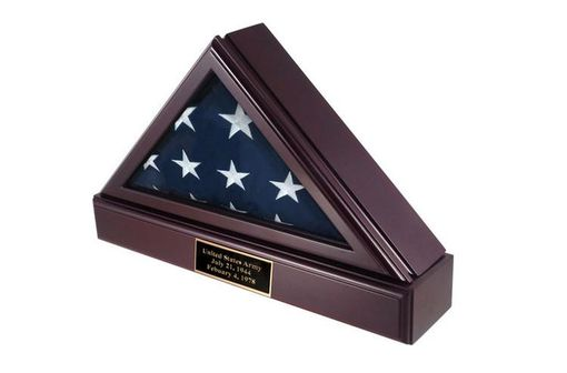 Custom Made Officers Flag Display Case And Pedestal For 3ft X5ft Flag