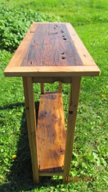 Custom Made Reclaimed Barnwood Sofa Table/Hall Table