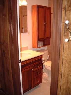 Custom Made Custom Bathroom Vanity And Wall Cabinet [Bs]