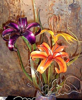 Custom Made Steel Lilly Bouquet