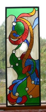 Custom Made Nouveau #1 Stained Glass Panel