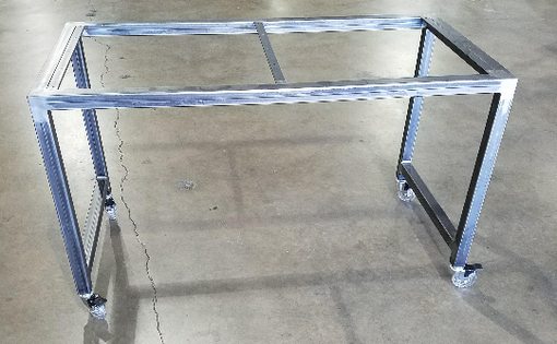 Custom Made Metal Rolling Desk Frame