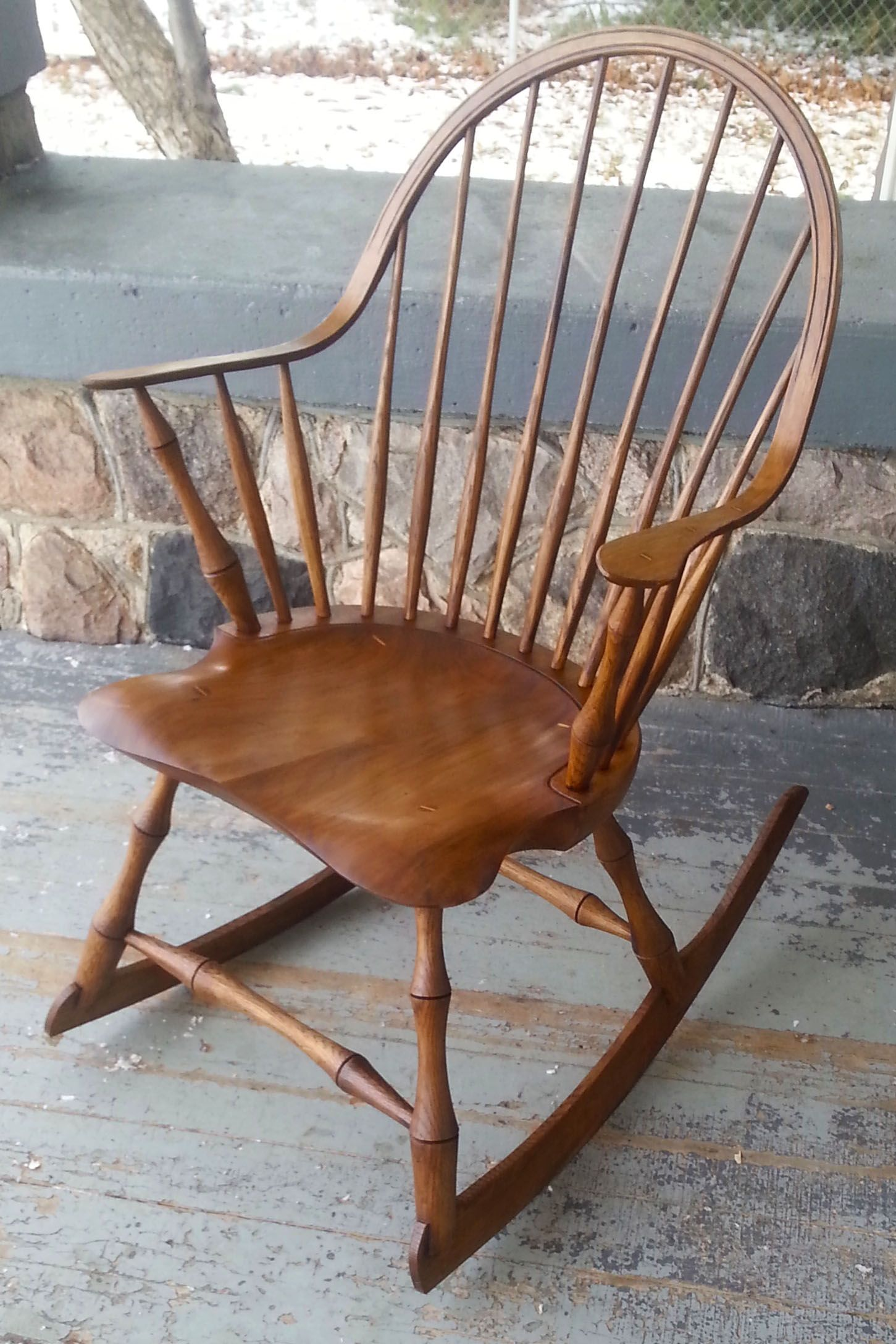 Buy Hand Made Rocking Chair Continuous Arm Rocker Bamboo Turnings