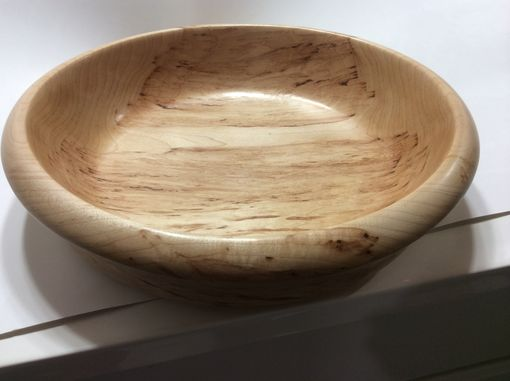 Custom Made Figured Hard Maple Bowl
